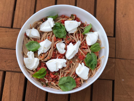 Pasta with Fresh Tomatoes and Burrata