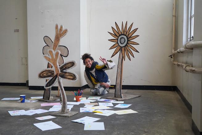 Eva Joy participatory artwork at Little Voices