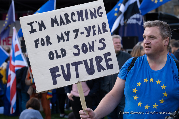 #125506.  '... for my son's future' placa