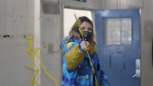 Amy Jackson engages with Lisa Kreuziger's piece Six Feet Apart