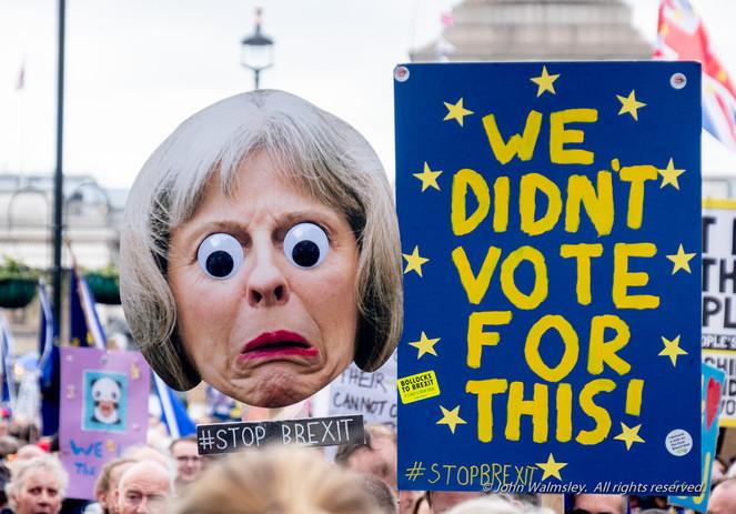 #124540  Caricature of Theresa May, Anti-