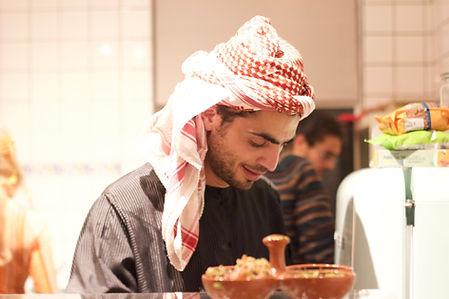 Mohammed Qeshta from Gaza Ham Chef catering