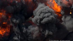 #120873  Explosion, Farnborough Air Show.