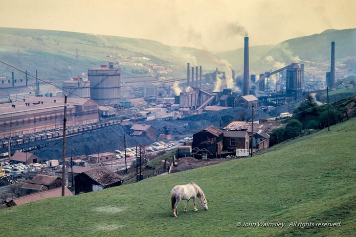 #5636  Steelworks, Ebbw Vale, Wales, 1971