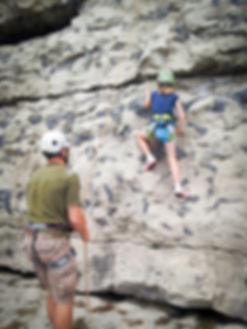 Learn to climb with the Family. Family rock climbing courses in Dorset, Jurassic Coast, Swanage. Providing the best outdoor climbing courses in Dorset.