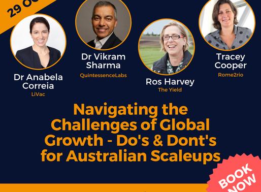 Book Now >> Entrepreneurs Panel - Do's and Dont's for Australian Scaleups