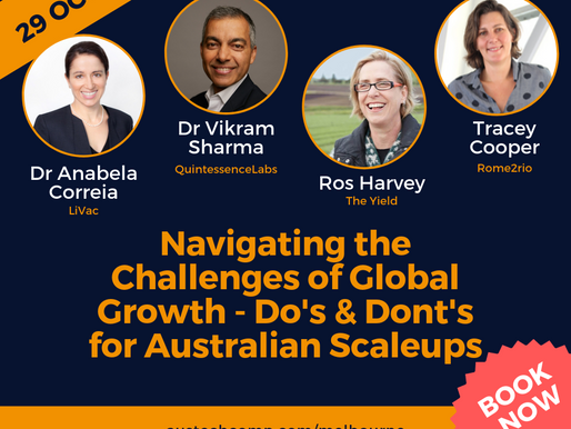 Book Now >> Entrepreneurs Panel - Do's and Dont's for Australian Scaleups