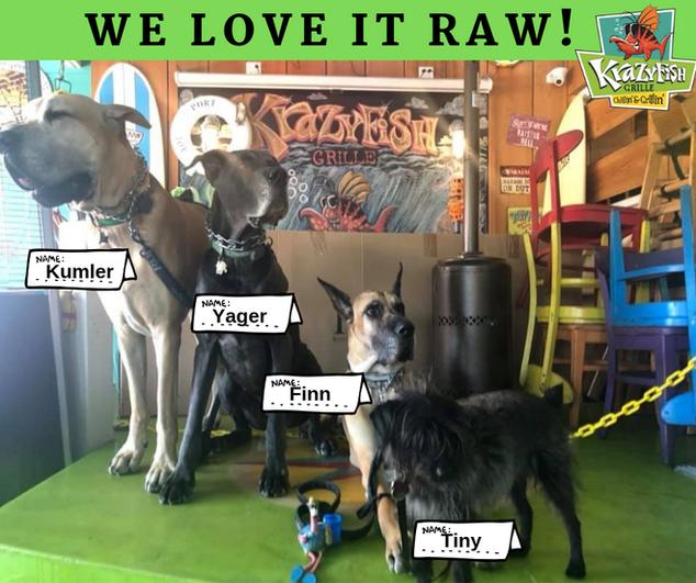 WE LOVE IT RAW!