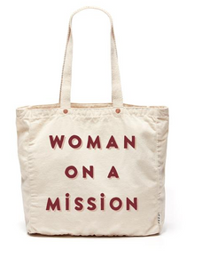 Love the strong statement here whether you are fighting social change, or just on a mission to find the perfect almost over ripe bunch of bananas, this bag speaks for it self. You are most defienlty on a mission to help fight world hunger and environmental issues.