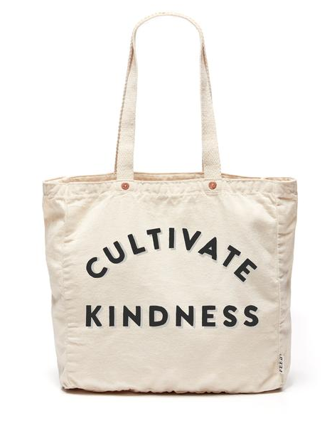 Love positive inspo anywhere I can get it. Love that this is a note to share love and kindess. A great simply reminder to ourselves and those around us. This bag is super soft and includes an interior pocket so you can slip your cards, keys and or phone into it and not worry about a purse. At an easier price tag, this makes a great gift as well.