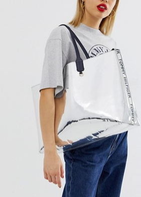 Branding is having a big moment and so is metallic. This bag is a great size, on trend and easy to wipe clean.