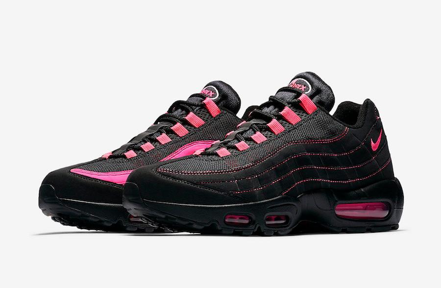 air max 95 preto e rosa
