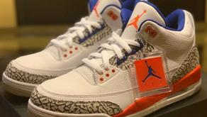 """Confira os detalhes do novo Air Jordan 3 """"Knicks"""""""