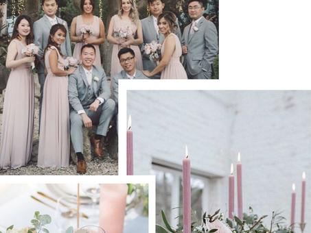 Wedding inspiration / Soft pink & grey