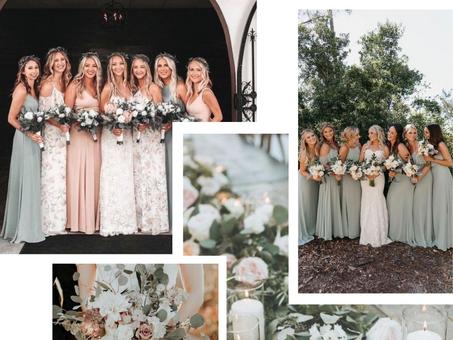 Wedding inspiration / Sage green & blush