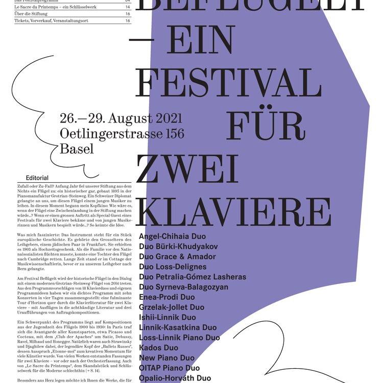 Befügelt -  Ein Festival für zwei Klaviere