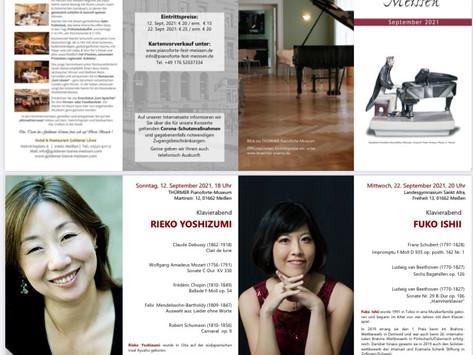 Meißen Piano Recital on 22nd of September.