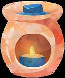 Decorative wax tart warmer image