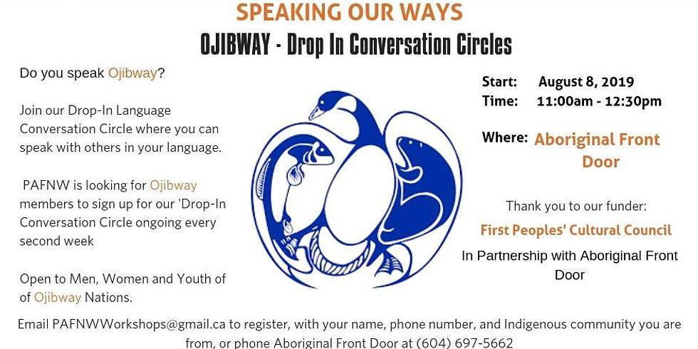 VANCOUVER- Ojibway - Drop In Conversation Circles