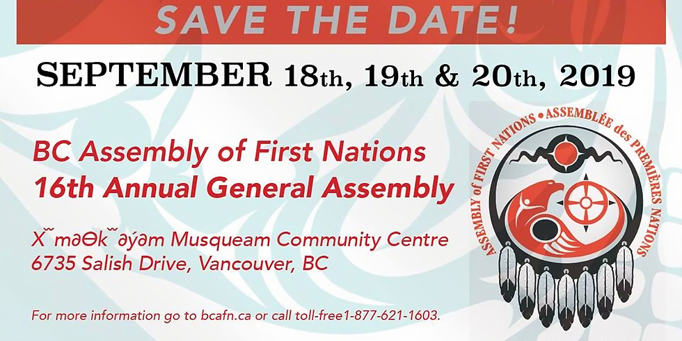 VANCOUVER- BCAFN 16th Annual General Assembly 2019
