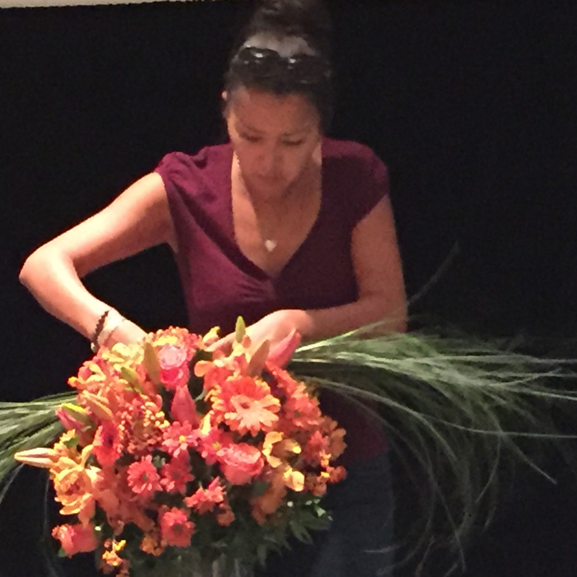 Adding the finishing touches to the stage arrangements