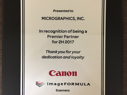 Silver Premier Partner with Canon