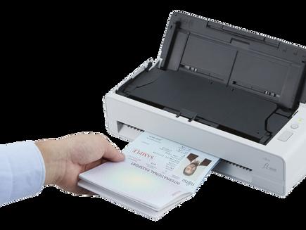 New Compact Fujitsu Passport/ID Scanner fi-800R