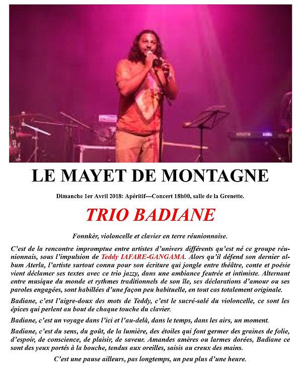 concert AMCT le Mayet de Montagne 2018 jazz et village