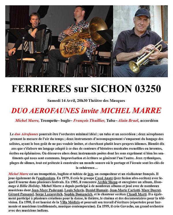 concert AMCT Ferrieres sur Sichon 2018 jazz et village