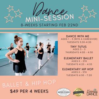Dance Mini Sessions begin Feb. 22