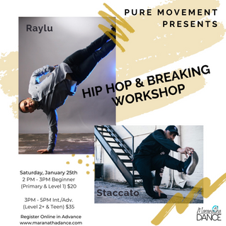 Hip Hop Workshop with Pure Movement