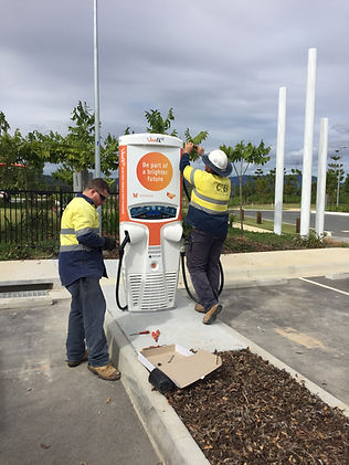 Veefil Tritium Fast Charger 50KW Installed By CB Solar