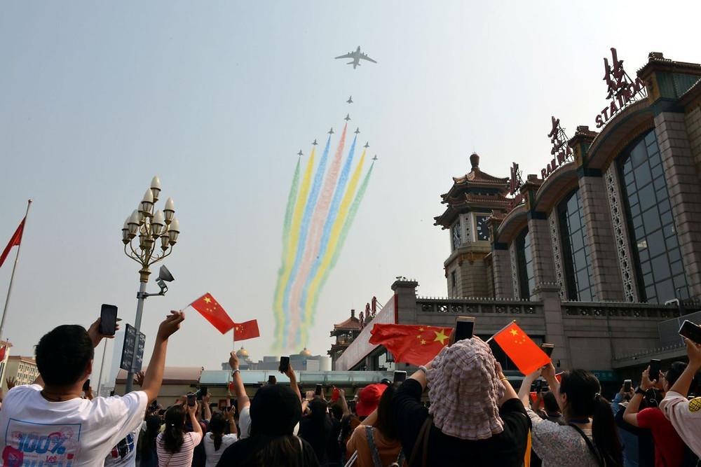 china aniversario desfile militar aviones 70 años comunismo