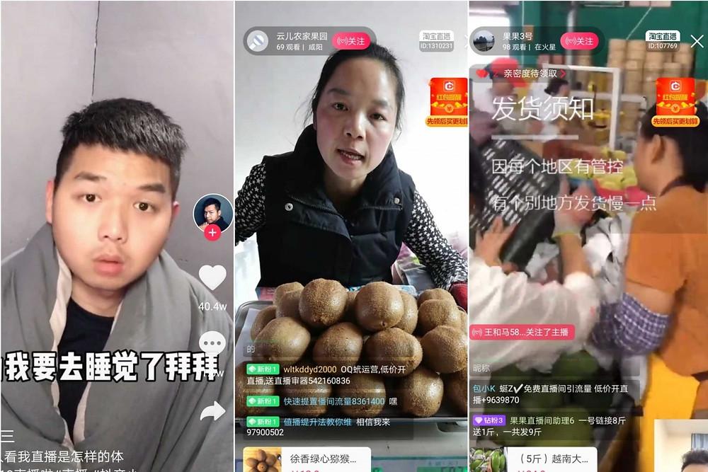 tabao live streaming transmisiones vivo comerciantes minoristas agricultores granjas productos internet ventas
