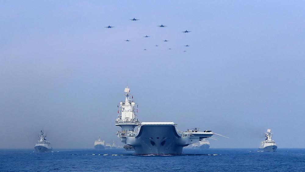 china buque barco mar meridional desvile armada naval portaaviones