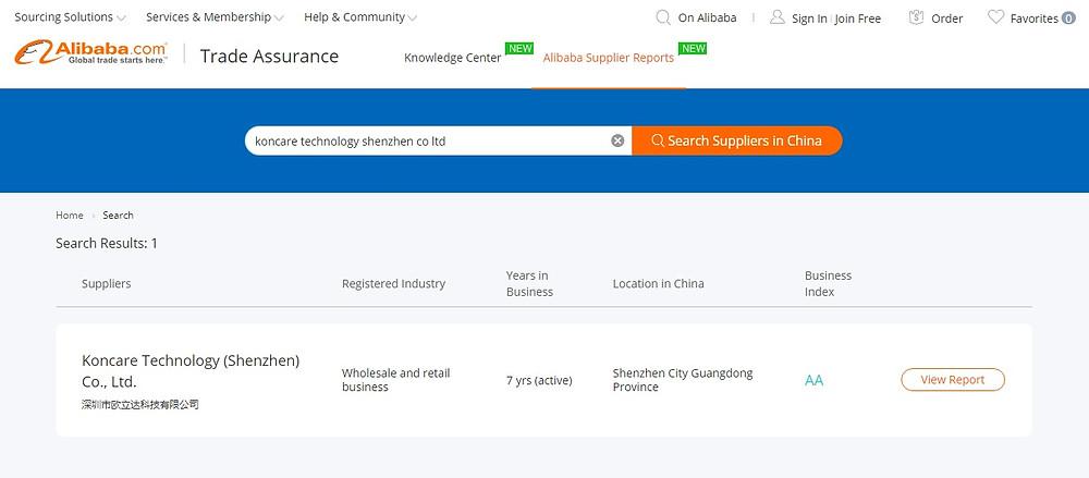 alibaba proveedores reporte informacion verificada china