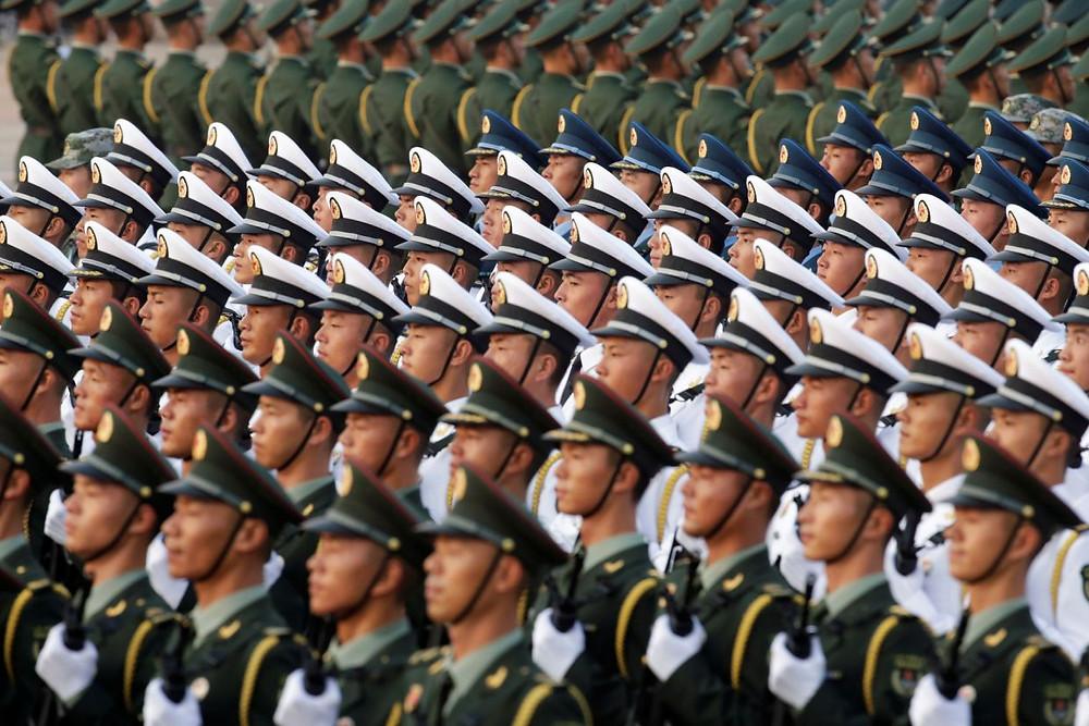 china republica celebracion aniversario comunismo fuerza milicia militar desfile