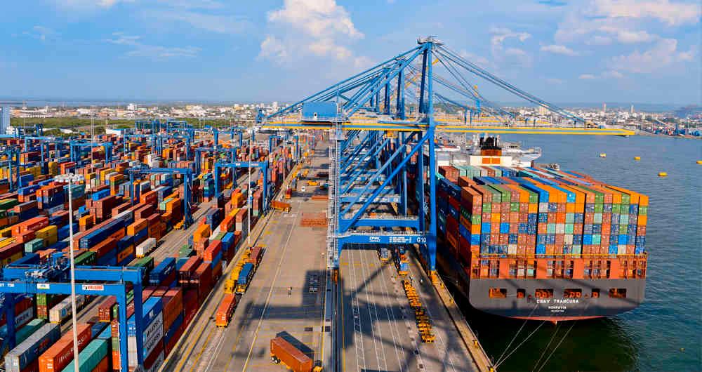 Cartegena de indias colombia puerto importacion exportacion
