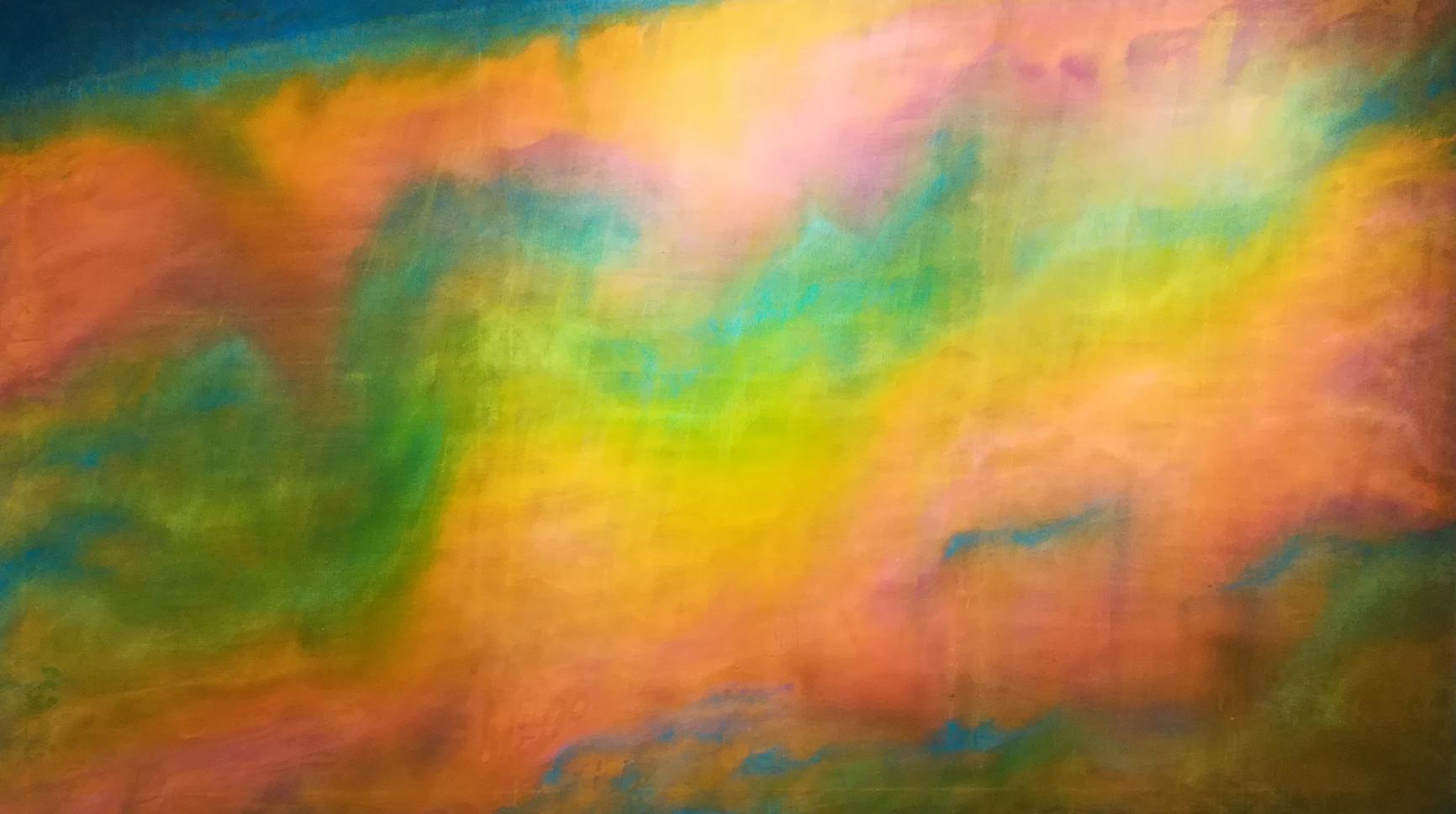 IDEA EARTH In rainbow 観想地球虹の中