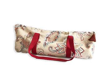 Large Yoga Mat Bag, Double Mat Bag in Exotic Flowers