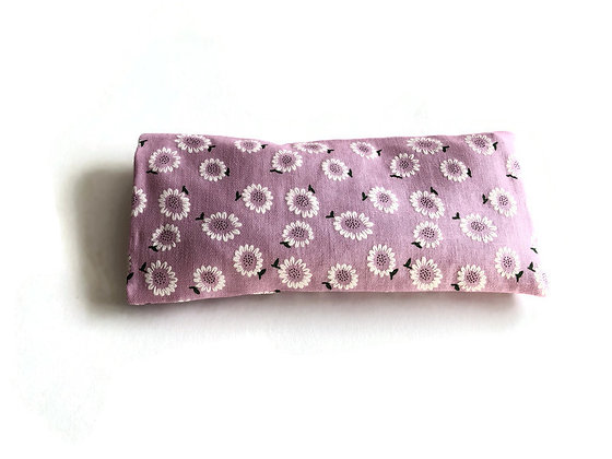 pink daisy eye pillow