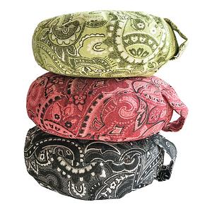 Meditation Yoga Cushion in Paisley Chenille with Organic Buckwheat Hulls