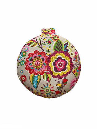 Retro Flowers Meditation Cushion