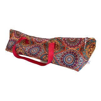 Large Mandala Yoga Mat Bag in  Mulberry Red, Double Mat Bag