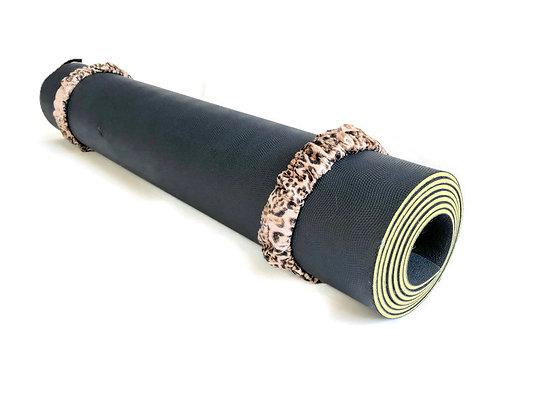 snakeskin yoga mat scrunchie