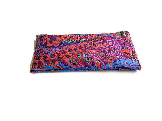 Refillable Lavender Aromatherapy Eye Pillow in Purple Paisley