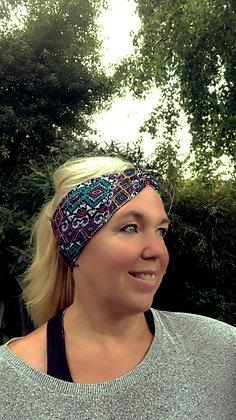 yoga headband on yogi