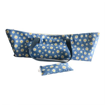 daisy yoga mat bag and lavender eye pillow