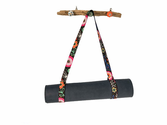 yoga mat strap retro flowers