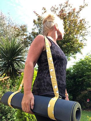 Ochre Yellow Sheep Yoga Mat Strap